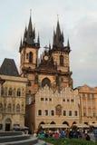 Historiska ämnen som bygger i Prague Fotografering för Bildbyråer