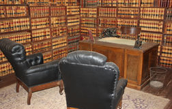 Historiska advokats kontor från 1800's Fotografering för Bildbyråer