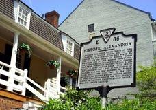 Historiska Alexandria, Virginia - kliva tillbaka i tid Arkivbild