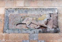 Historiska Ani Ruins och vinterlandskap, Kars, Turkiet arkivbild