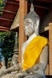 Historiska Ayutthaya parkerar den forntida Buddhastatyn royaltyfri bild