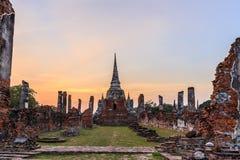 Historiska Ayutthaya parkerar, Phra Nakhon si Ayutthaya, Ayutthaya, Royaltyfria Foton