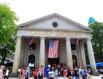 Historiska Boston Quincy Market royaltyfri foto