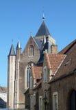 historiska brugge byggnader Fotografering för Bildbyråer