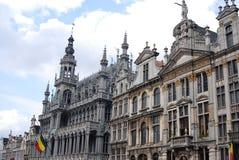 historiska brussels byggnader royaltyfria foton