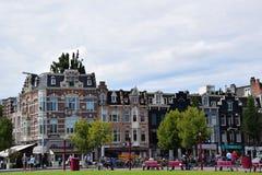 Historiska Builings på Museumstraat i Amsterdam, Holland, Nederländerna arkivbilder