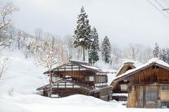 Historiska byar av Shirakawa-gÅ  och Gokayama Arkivfoto