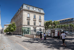 Historiska byggande Avignon Frankrike Royaltyfria Bilder