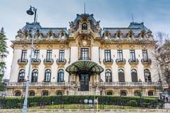Historiska byggnaden av George Enescu Museum Arkivbild
