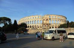 Historiska byggnader/amfiteater arkivfoto