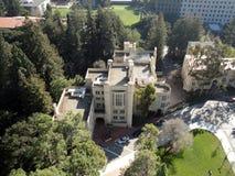 Historiska byggnader av UC Berkeley Campus arkivbild