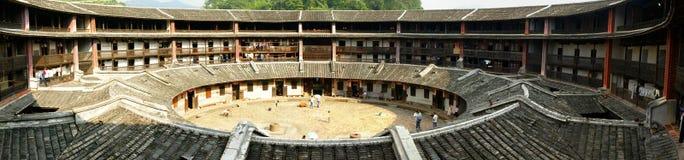 Historiska byggnader Fjian-Tulou Arkivfoto