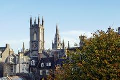 Historiska byggnader i Aberdeen, Skottland Royaltyfria Bilder