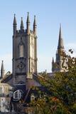 Historiska byggnader i Aberdeen, Skottland Arkivfoton