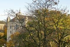 Historiska byggnader i Aberdeen, Skottland Arkivbild