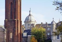 Historiska byggnader i Aberdeen, Skottland Fotografering för Bildbyråer