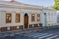 Historiska byggnader i Amparo Arkivfoto