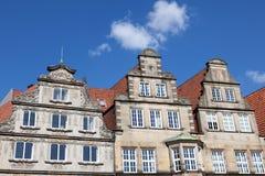 Historiska byggnader i Bremen, Tyskland Royaltyfri Fotografi
