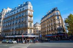 Historiska byggnader i den latinska fjärdedelen, Paris, Frankrike Arkivfoto