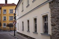 Historiska byggnader i det östligt - europeisk stad Skalica Slovakien Arkivbild