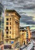 Historiska byggnader i mitten av Glasgow Arkivfoton