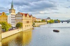 Historiska byggnader i Prague, Tjeckien Royaltyfri Fotografi