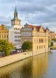 Historiska byggnader i Prague, Tjeckien Royaltyfria Foton