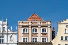 Historiska byggnader i Rostock Fotografering för Bildbyråer