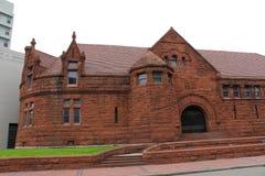 Historiska byggnader med vinkelrätt Arkivfoto