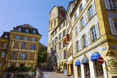 Historiska byggnader, Neuchatel Fotografering för Bildbyråer