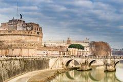 Historiska byggnader och arkitekturdetaljer i Rome, Italien Arkivbilder