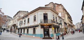 Bucharest gammal Town Arkivbild
