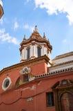 Historiska byggnader och monument av Seville, Spanien Spanska arkitektoniska stilar av gotiskt catalina santa Arkivbilder