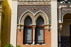 Historiska byggnader och monument av Seville, Spanien Spanska arkitektoniska stilar av gotiskt och Mudejar, barock Royaltyfri Foto