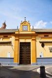 Historiska byggnader och monument av Seville, Spanien Spanska arkitektoniska stilar av gotiskt San Juan de la Palma Fotografering för Bildbyråer