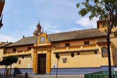 Historiska byggnader och monument av Seville, Spanien Spanska arkitektoniska stilar av gotiskt San Juan de la Palma Royaltyfri Fotografi