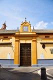 Historiska byggnader och monument av Seville, Spanien Spanska arkitektoniska stilar av gotiskt San Juan de la Palma Royaltyfri Bild