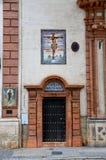 Historiska byggnader och monument av Seville, Spanien Spanska arkitektoniska stilar av gotiskt Capilla Montserrat Royaltyfri Fotografi