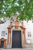 Historiska byggnader och monument av Seville, Spanien Spanska arkitektoniska stilar av gotiskt catalina santa Arkivfoto