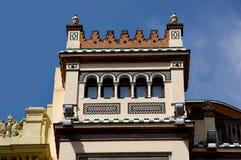 Historiska byggnader och monument av Seville, Spanien Spanska arkitektoniska stilar av gotiskt och Mudejar, barock Royaltyfria Foton