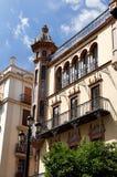 Historiska byggnader och monument av Seville, Spanien Spanska arkitektoniska stilar av gotiskt och Mudejar, barock Royaltyfri Fotografi