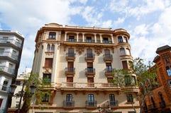 Historiska byggnader och monument av Seville, Spanien Spanska arkitektoniska stilar av gotiskt och Mudejar, barock Arkivbilder