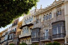 Historiska byggnader och monument av Seville, Spanien Spanska arkitektoniska stilar av gotiskt och Mudejar, barock Royaltyfri Bild