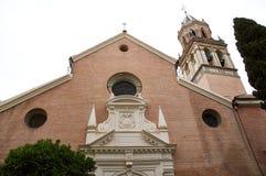 Historiska byggnader och monument av Seville, Spanien Spanska arkitektoniska stilar Santa Angela de la Cruz Arkivbild