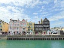 Historiska byggnader på havsframdel Royaltyfri Foto