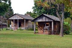 Historiska byggnader på präriedungedelstatsparken Royaltyfri Fotografi