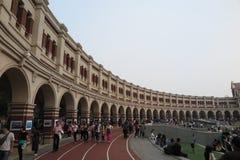Historiska byggnaderna av fem stora avenyer i Tianjin Arkivfoton