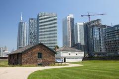 Historiska byggnaderna på fortet York i Toronto Arkivfoton