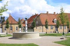 Historiska Christiansfeld i Jutland, Danmark arkivfoton
