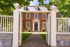 Historiska Derby House i Salem, Massachusetts fotografering för bildbyråer